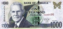 JAMAICA 1000 DOLLARS 2014 P-86j AU [JM241h] - Jamaica