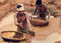 Wsshing Gem Gravel - Ratnapura - Sri Lanca - Formato Grande Non Viaggiata – E 7 - Cartoline