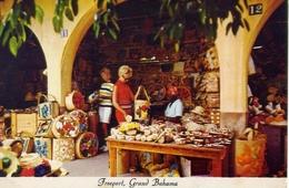 Straw Market At The International Bazar - Freeport - Gran Bahama - Formato Grande Viaggiata Mancante Di Affrancatura – E - Cartoline