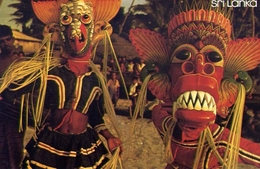 Sri Lanka - Mask Dancers - Ambalangoda - Formato Grande Non Viaggiata - E 7 - Cartoline