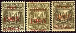 Dominican Republic. Sc #166-168. Unused. - Dominicaine (République)