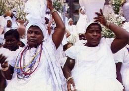Salvador - Bahianas Na Lavagem Do Bomfim - The Washing - Festival Of The Bomfim - Formato Grande Viaggiata – E 7 - Cartoline