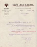 Courrier 1917 /Compagnie Nationale Radiateurs / Expédition 410 Obus + Barrettes / Wagon Pour Usinage Mougeotte Melay 52 - 1914-18