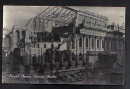 MALTA - ROYAL OPERA HOUSE VALLETTA   - POSTCARD BY J. GALEA VALLETTA 1950s - Malta
