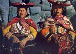 Cuzco Peru - Indias Con Sus Trajes Tipicos - Formato Grande Non Viaggiata – E 7 - Perù