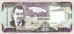 JAMAICA 100 DOLLARS 2002 P-80b UNC  [JM235c] - Jamaica