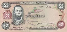 JAMAICA 2 DOLLARS 1993 P-69e [JM225h] - Jamaique