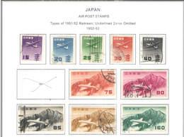 Giappone PA 1952/62 Tipo 51/52 Rist. Scott.C  25/29+32/38 Usati+See Scan On Scott.Page; - Posta Aerea