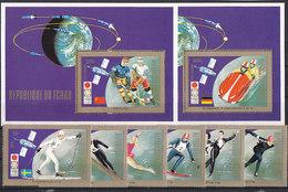 Olympics 1972 - Ice Hockey - CHAD - 2 S/S+Set MNH - Winter 1972: Sapporo