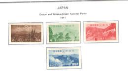 Giappone PO 1941 Arisan Nat.Park Scott.315/318+ Usati+See Scan On Scott.Page; - 1926-89 Imperatore Hirohito (Periodo Showa)