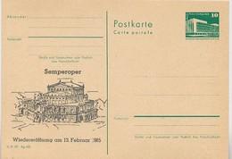 DDR P84-4-85 C108 Postkarte Zudruck SEMPEROPER DRESDEN 1985 - Musik
