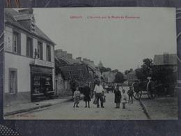 50 LESSAY L'ARRIVEE PAR LA ROUTE DE COUTANCES EPICERIE - Autres Communes