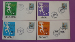 4 FDC Jeux Olympiques Munchen 1972 Olympic Games Yougoslavie Yugoslavia - FDC