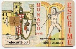 PHONE CARD-MONACO 1996-ESCRIME-TELECARTE 50 - Monaco