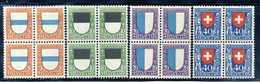 1922 SVIZZERA SET MNH ** BLOCKS OF 4 - Svizzera