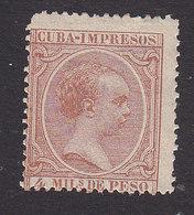 Cuba, Scott #P11, Mint Hinged, King Alfonso XIII, Issued 1890 - Cuba (1874-1898)