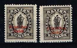 DR 1920, Michel# 133 I + II ** - Unused Stamps