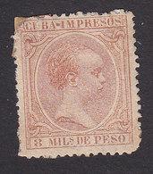 Cuba, Scott #P12, Mint Hinged, King Alfonso XIII, Issued 1890 - Cuba (1874-1898)