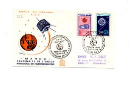 LAB222 - MAROCCO 1965 , UIT FDC - Marocco (1956-...)