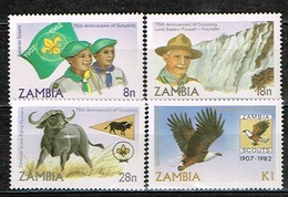 ZAMBIE - Neuf **/MNH**/1982 - 75éme Anniversaire Du Scoutisme - Zambia (1965-...)