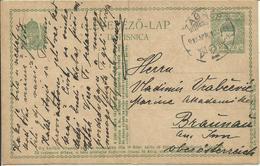 1918   Postcard 8 H Ung/Cro From Zagreb To Braunau - Entiers Postaux