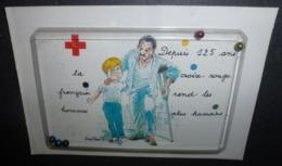 Carte Postale : Croix-Rouge Française (carte à Système Avec 5 Billes) - Pubblicitari