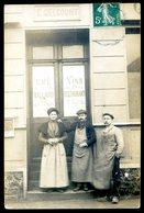 Cpa Carte Photo Café Bar Restaurant E. Delcourt à Identifier  --  Cachet Venizel Aisne     Aout18-4 - Cartes Postales