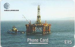 Falklands - Borgny Dolphin Oil Rig, 269CFKA, 1999, 6.000ex, Used - Falkland Islands