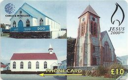 Falklands - Christ Church 2000 Years, 314CFKB, 1999, 20.000ex, Used - Falkland Islands