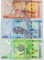 UGANDA 1000 2000 5000 SHILLINGS 2017 P.49-51 UNC - Uganda