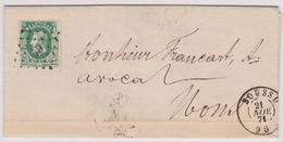 N° 30 LETTRE De 1871 BOUSSU Lp. 49  Vers MONS - 1869-1883 Leopold II.