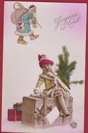 Noël Père Kerstman Bonhomme Santa Claus 1923 Christmas Navidad Tree Weihnachten Kerstmis Kerstfeest CPA Carte - Santa Claus
