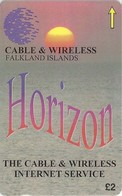 Falklands - Horizon Internet, 220CFKA, 1998, 1.000ex, Used - Falkland Islands