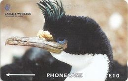 Falklands - King Cormorant, 229CFKA, 1998, 60.000ex, Used - Falkland Islands