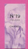 F - Carte à Sprayer CHANEL - N°19 Poudré - Japon- Perfume Card - Cartes Parfumées