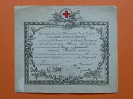 Croix Rouge Française Diplome Palme De Bronze Pour Services Rendus Dans L'Hopital Auxiliaire 10 De Mazamet - 1917 - 1914-18