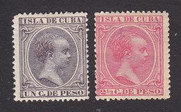 Cuba, Scott #135, 143, Mint Hinged, King Alfonso XIII, Issued 1890 - Cuba (1874-1898)