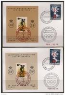 Erinnofilie E90/91 Gestp /Oblit Op Kaart - Commemorative Labels