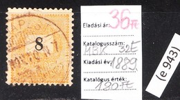 Black-painted Paintbrush Classic Stamp 1889. (e 943) - Hungary