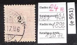 Black-painted Paintbrush Classic Stamp 1898. (e 951) - Oblitérés