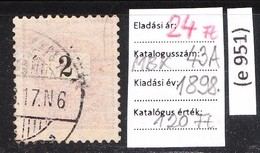 Black-painted Paintbrush Classic Stamp 1898. (e 951) - Hungary