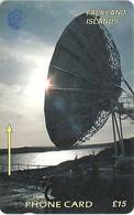 Falklands - Satellite Dish, 2CWFC, 1994, 15.000ex, Used - Falkland Islands