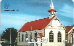 Falklands - St. Mary's Church, 289CFKA, 1999, 20.000ex, Used - Falkland Islands