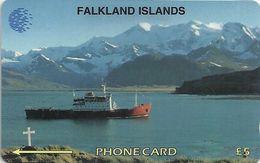 Falklands - RRS Bransfield Ship, 5CWFA, 1995, 30.000ex, Used - Islas Malvinas