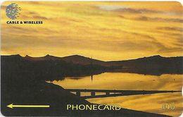 Falklands - Sunset Over Port Stanley, 339CFKA, 2000, 20.000ex, Used - Falkland Islands