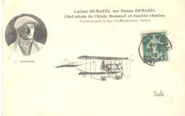 Lucien Demazel Sur Biplan Demazel - Chef Pilote De L'école Demazel Et Sagitta Réunies - Flieger