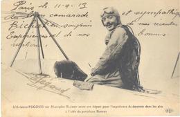 L'aviateur Pégoud Sur Monoplan Blériot Avant Son Départ Pour L'expérience De Descente Dans Les Airs à L'aide Du ... - Aviateurs