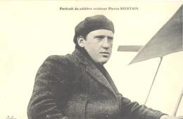 Portrait Du Célèbre Aviateur Pierre Divetain - Aviadores