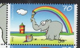 GERMANY, 2017, MNH, COMEDIANS, OTTO WAALKES , GREETING STAMP, ELEPHANTS, 1v - Art