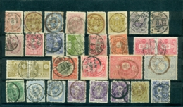 Japan Period 1883-1939 Group Of 30 Stamps With Full Or Large Part Of Cancels - Japan
